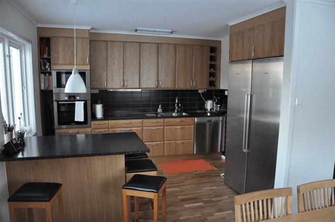 Iwo och Anieszka färdiga köket